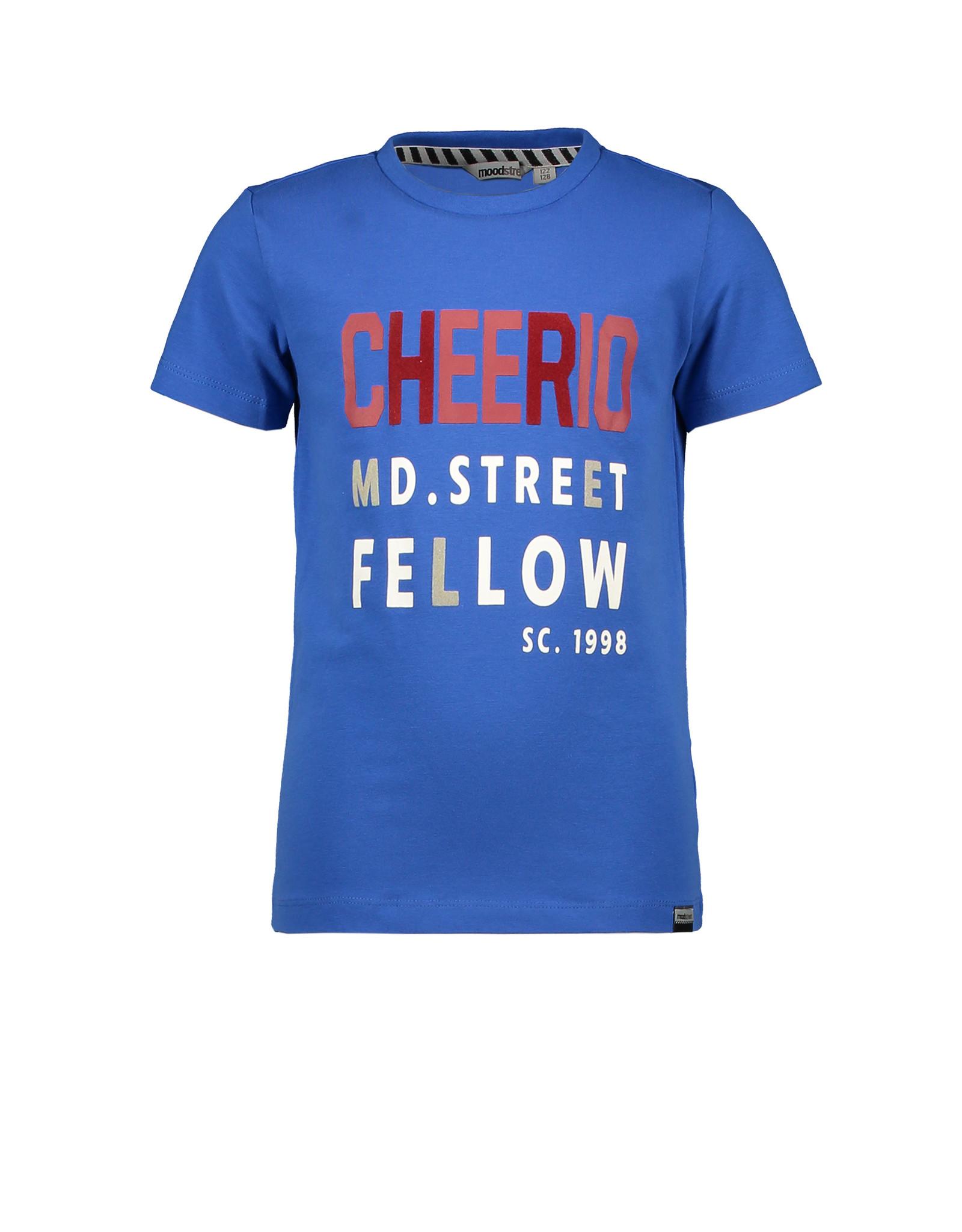 Moodstreet MT t-shirt chestprint, Sporty Blue
