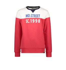 Moodstreet MT sweater cut&sewn, Red