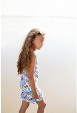 Moodstreet MT dress AOP Paradise, Turquoise