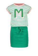 Moodstreet MT spoty dress stripe, Green