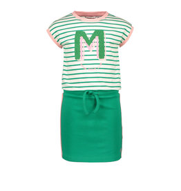 Moodstreet MT spoty dress stripe, Green