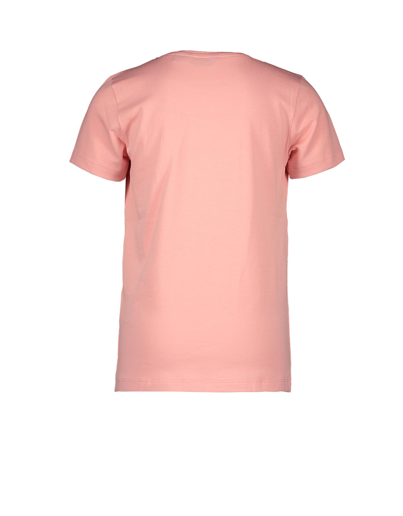 Moodstreet MT t-shirt chestprint, Light pink