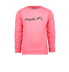 Moodstreet MT sweater with chest AW, diva pink