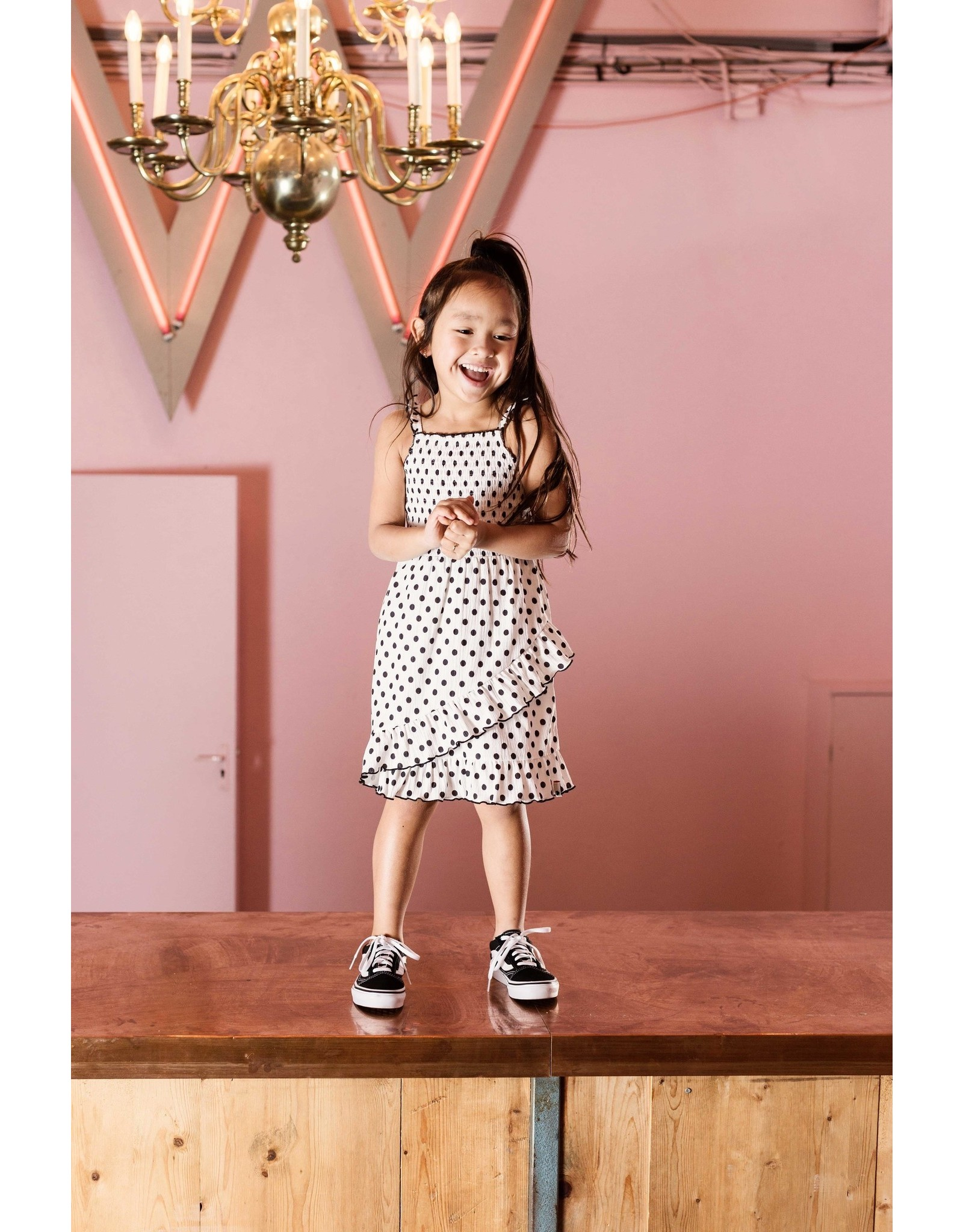 LOOXS Little Little dress with smock, lace