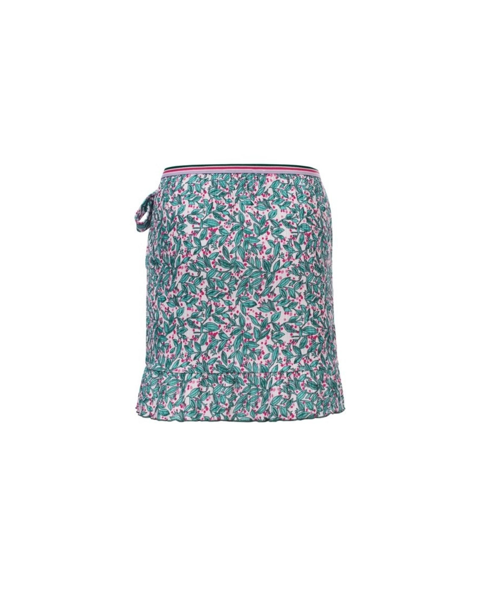 LOOXS Little Little woven  skirt ruffl, Bardot stripe Y/D