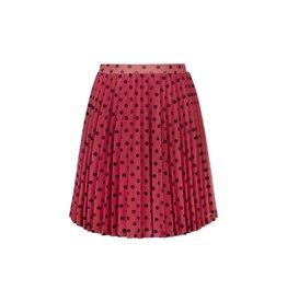 LOOXS Little Little knee skirt lurex, raspberry