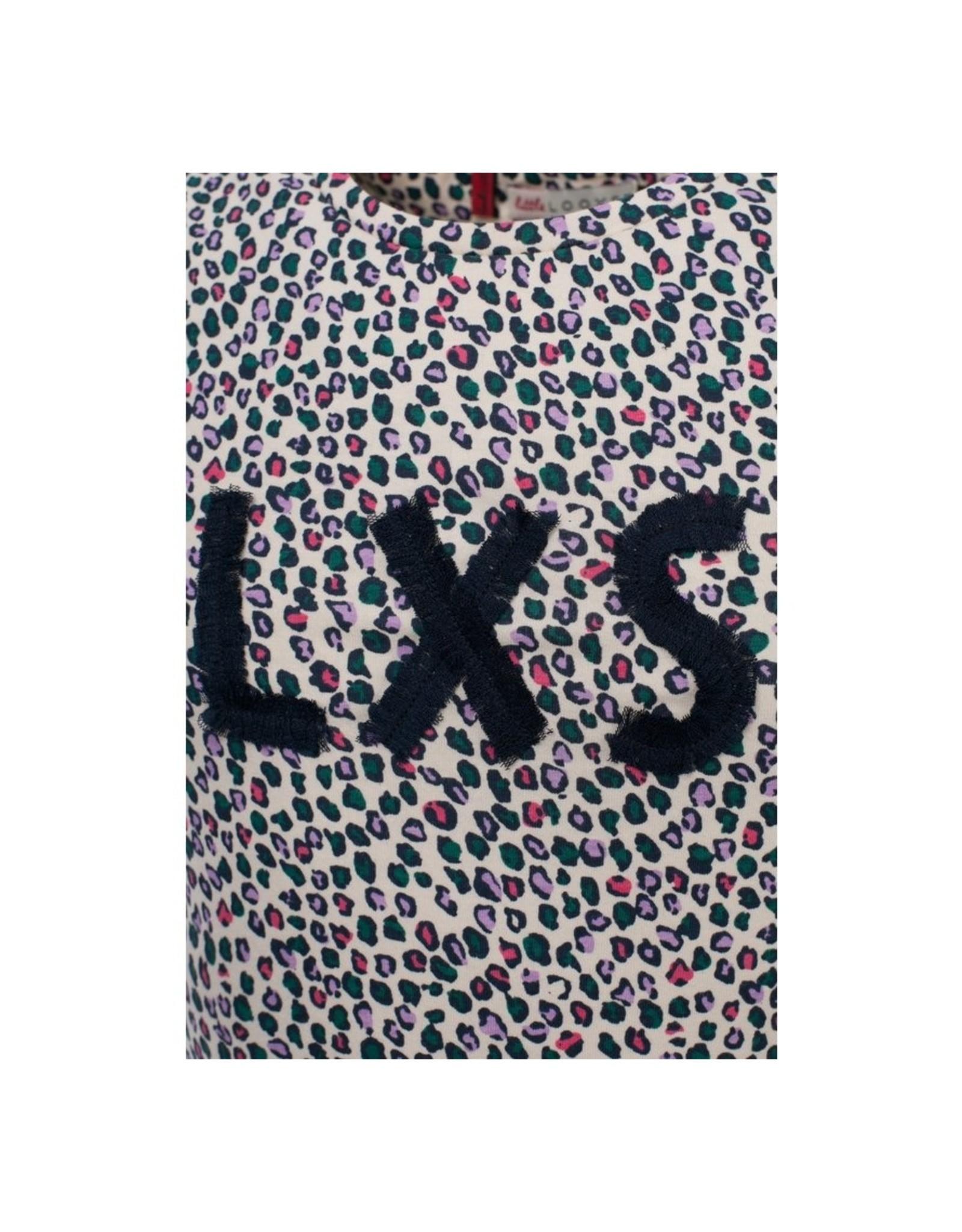 LOOXS Little Little top ruffle, Jungle Cats AO