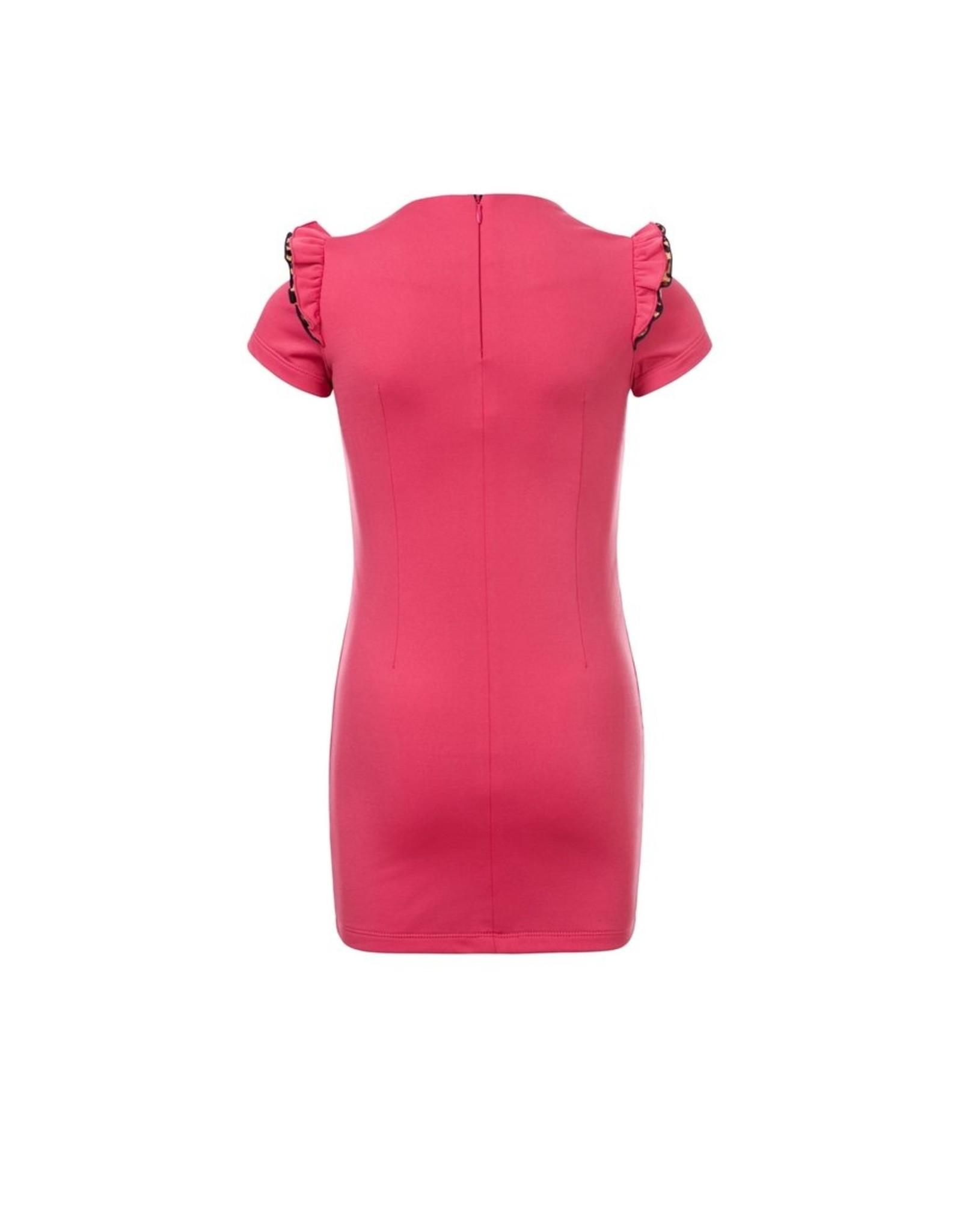 LOOXS Little Little sporty sweat dress, raspberry