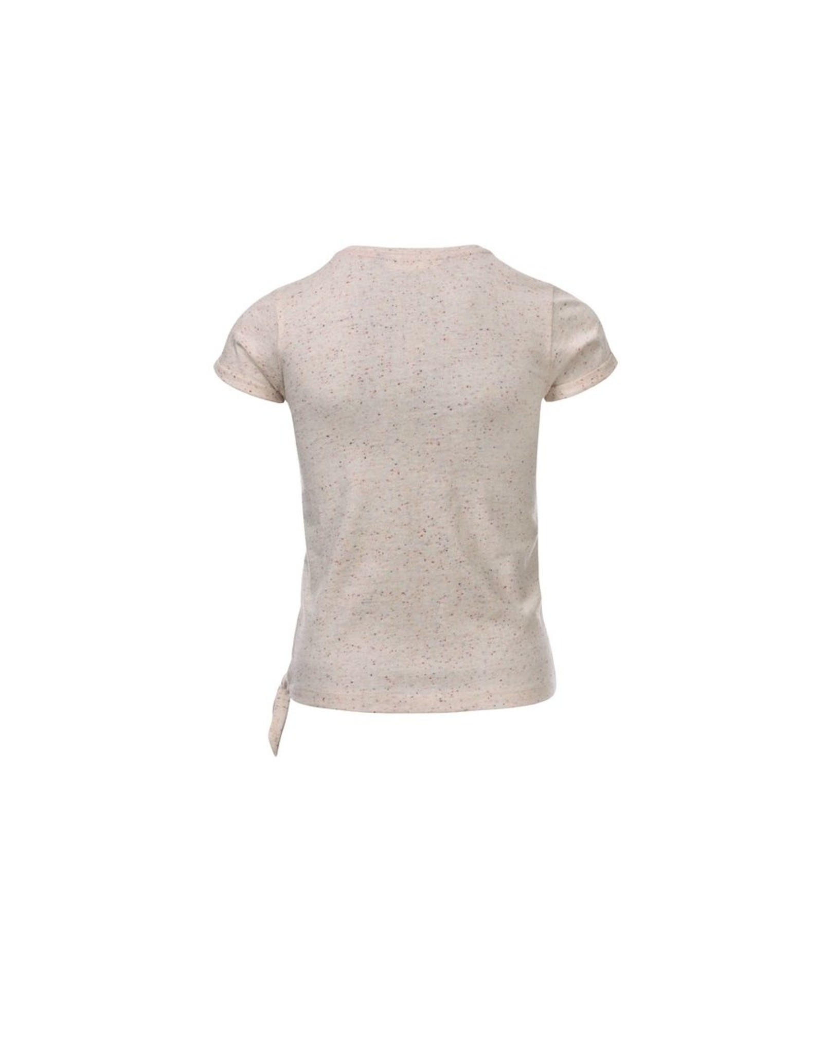 LOOXS Little Little t-shirt knot s. Sleeve, spikkel sand
