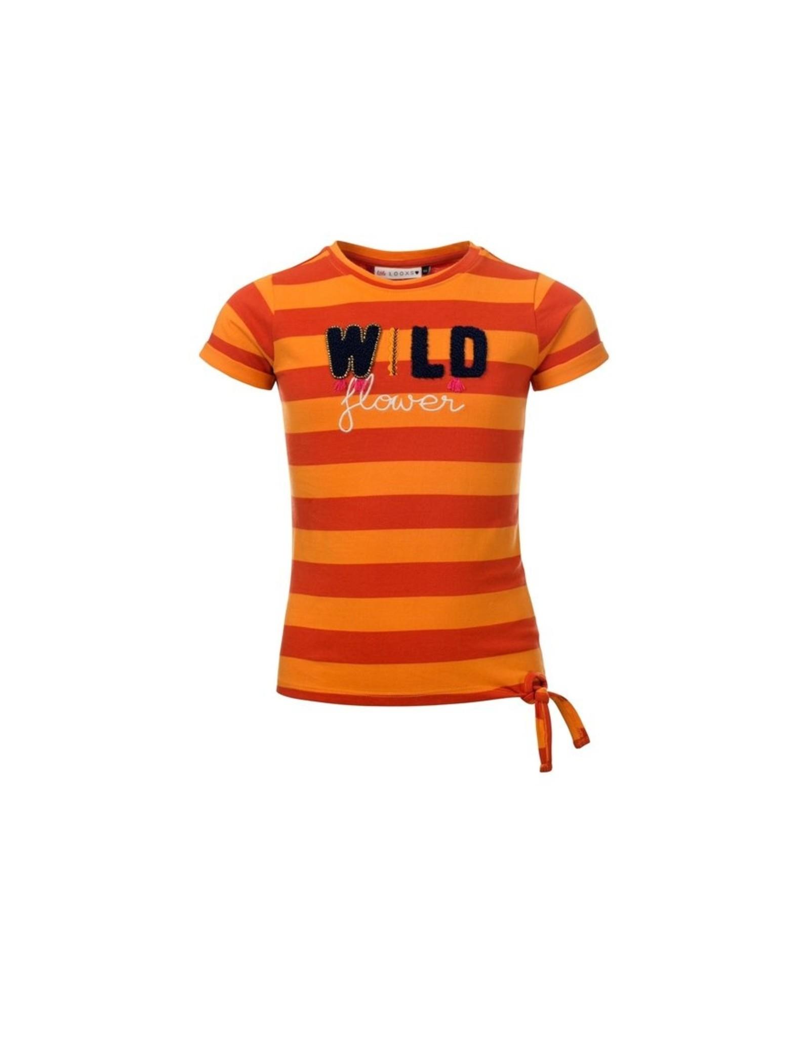 LOOXS Little Little t-shirt knot s. Sl, Antrastripe