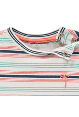 Noppies B Regular T-shirt ss Marcellus Y/D str, Blanc de Blanc