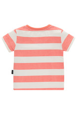Noppies B Regular T-shirt ss Marshall str, Fresh Salmon