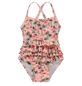 Noppies G Swimsuit Citrus aop, Impatiens Pink