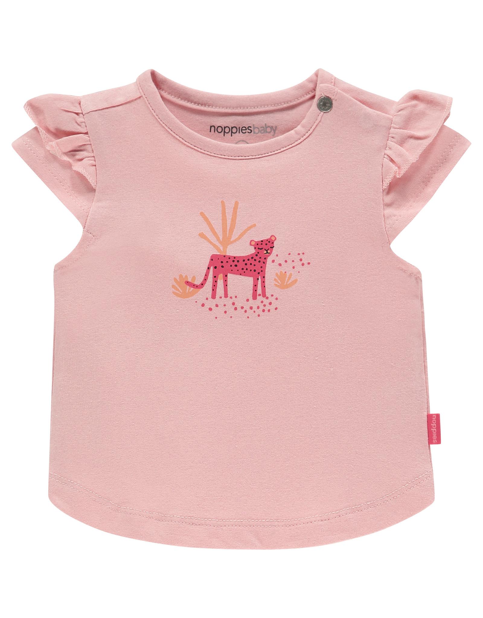 Noppies G Regular T-shirt ss Chino, Impatiens Pink