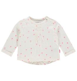 Noppies G Regular T-shirt ls Childress aop, Blanc de Blanc