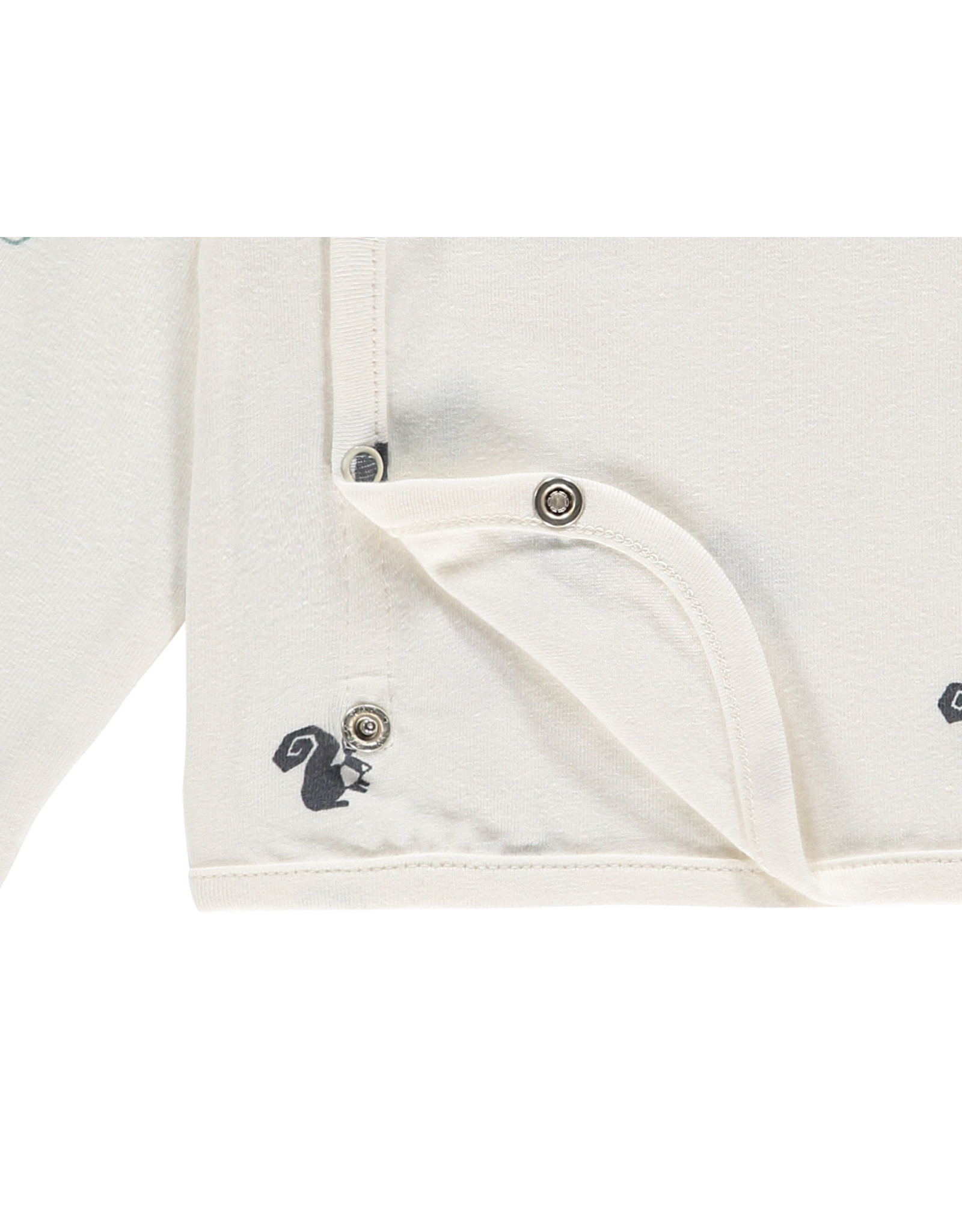 Noppies U T-shirt overlap Krimpton aop, Whisper White