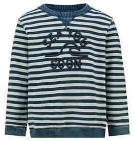 Noppies B Sweater ls Methuen Y/D str, Dark Sapphire