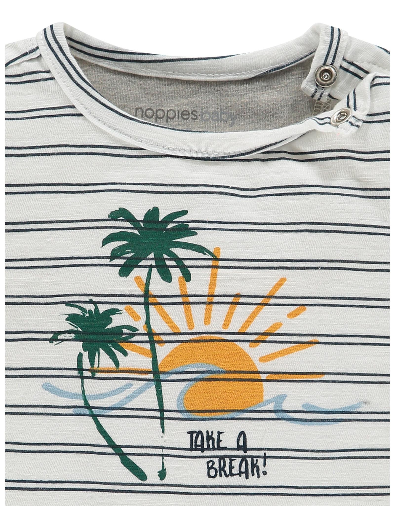 Noppies B Regular T-shirt ss Asbury Park aop, Blanc de Blanc