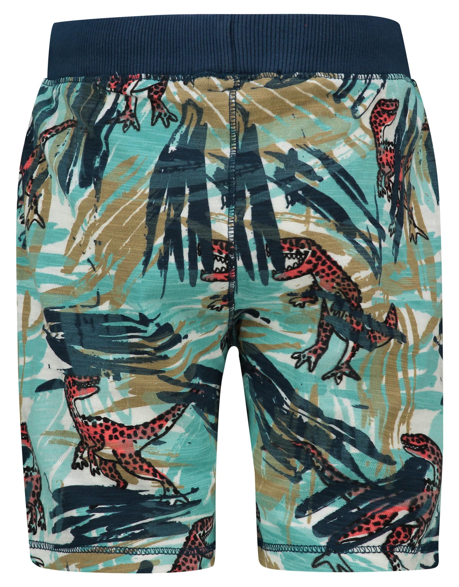 Noppies B Short Knit Jeannot aop, Lagoon