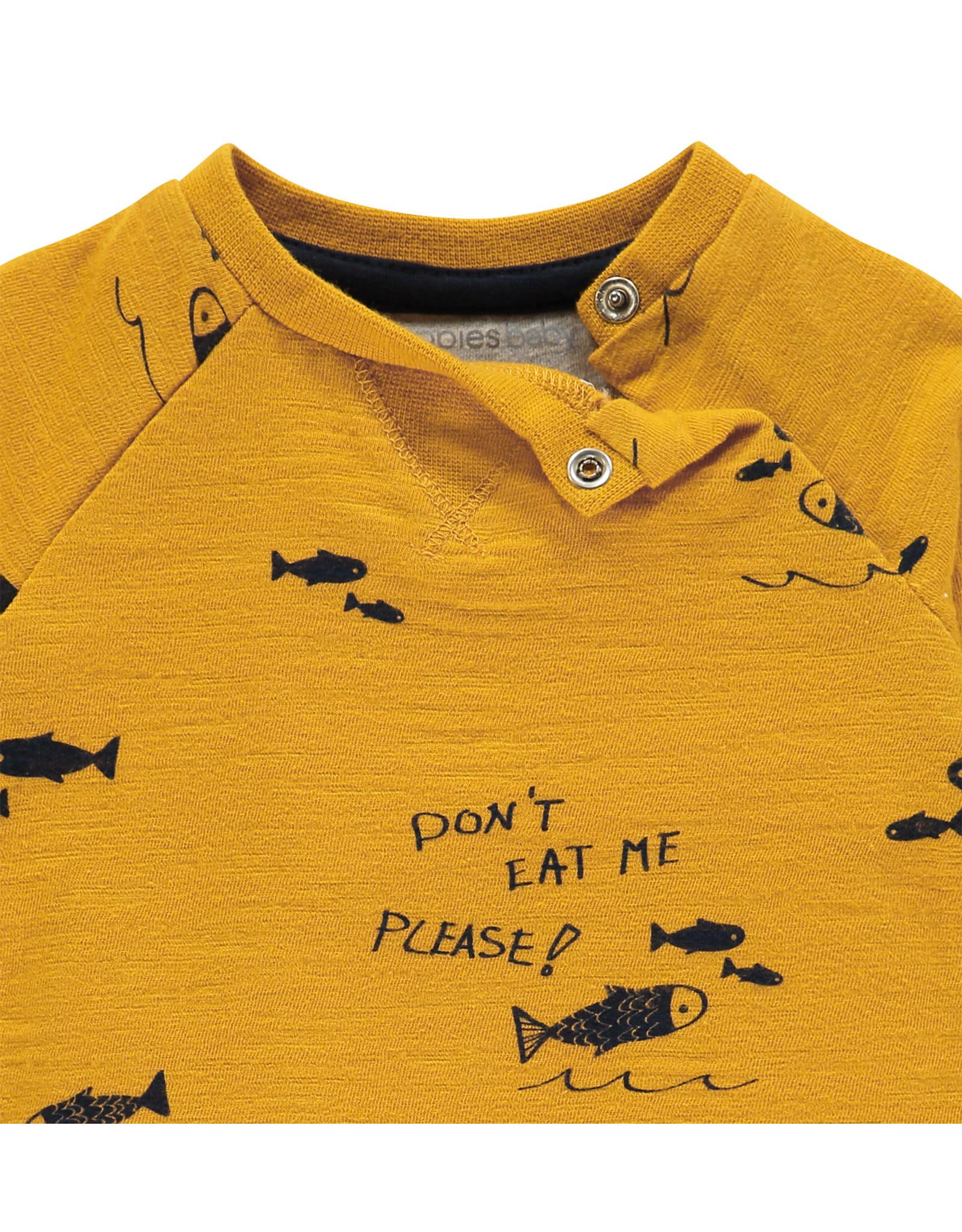 Noppies B Regular T-shirt ls Mauldin aop, Mineral Yellow