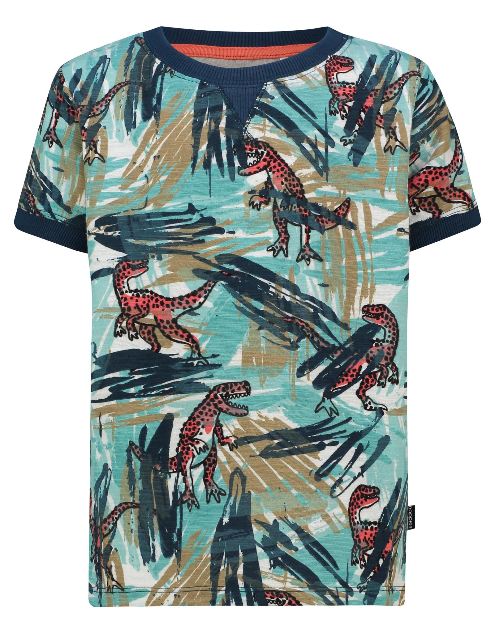 Noppies B Regular T-shirt ss Junction aop, Lagoon
