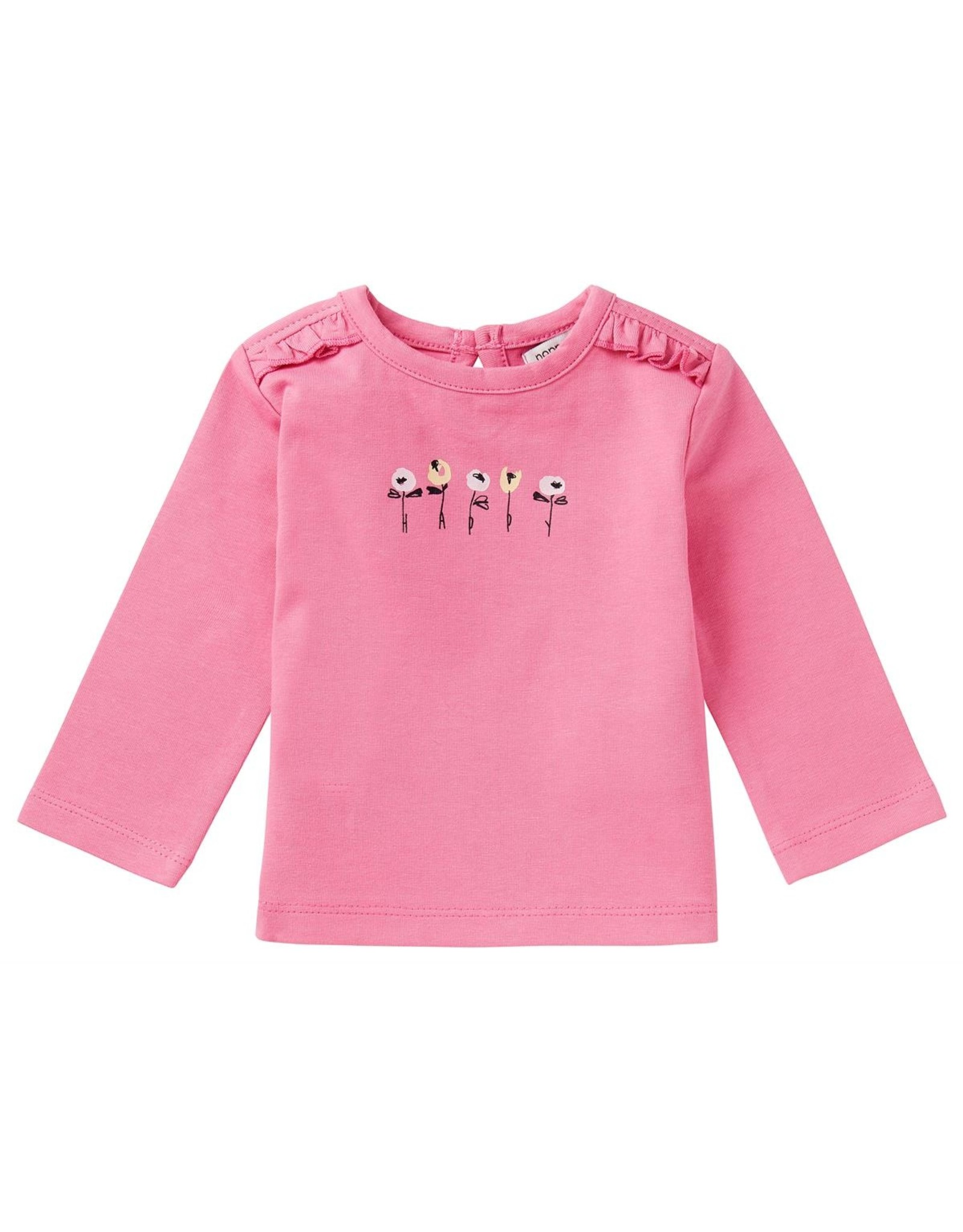 Noppies G Regular T-shirt ls Carter, Sachet Pink
