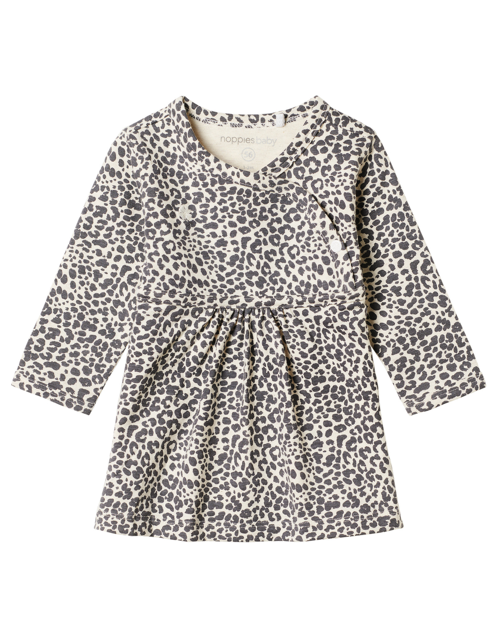 Noppies G Dress ls Amazona AOP,  Oatmeal