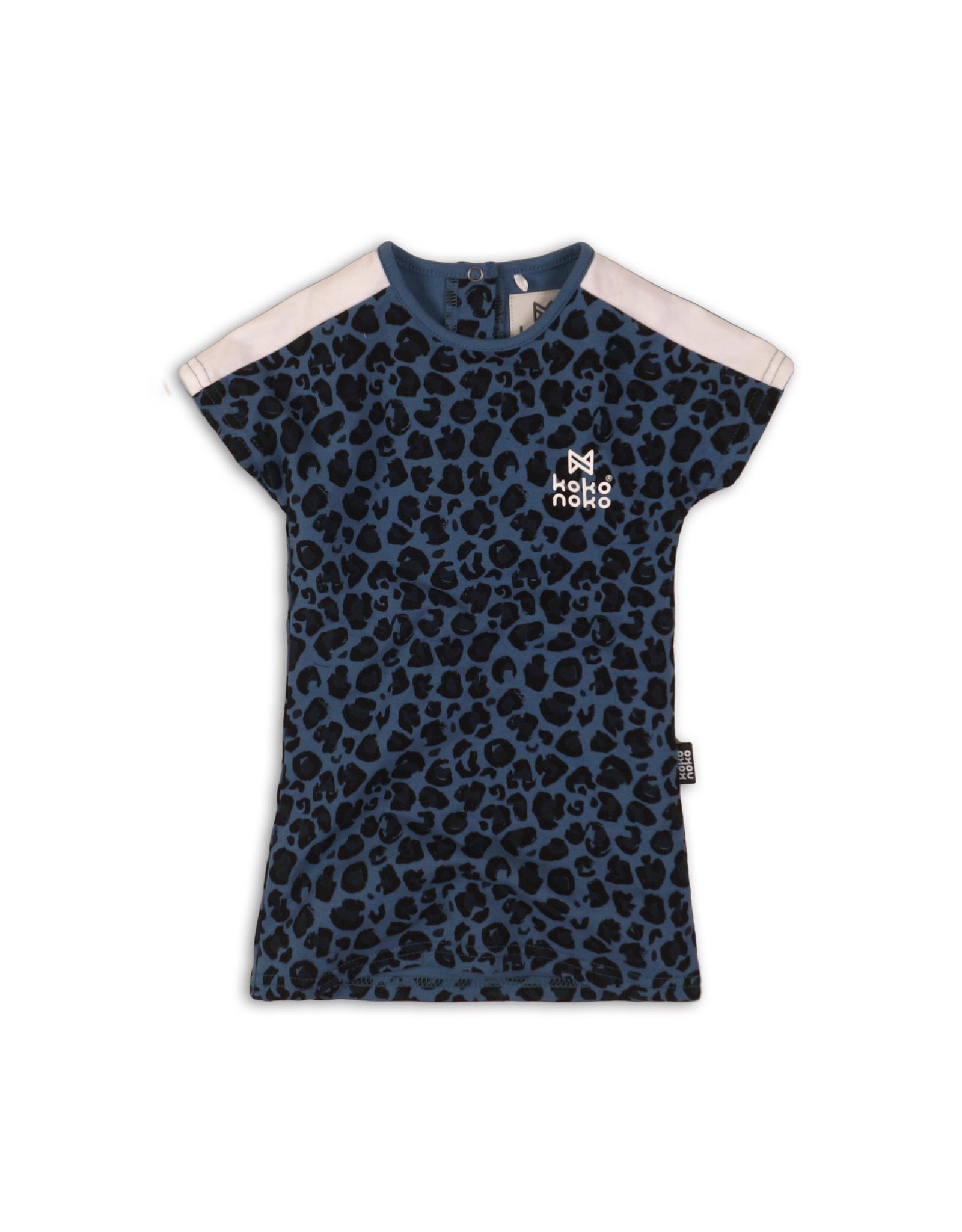 Koko Noko dress, Blue + aop, 37C 34920