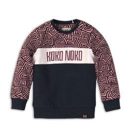 Koko Noko sweater, Aop + pink + white + navy, 37C 34902