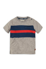 Koko Noko t shirt, Grey melee + navy + red, 37C 34863