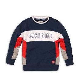 Koko Noko sweater, Navy + red + grey melee, 37C 34861