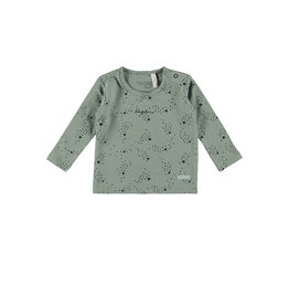 Bampidano New Born T-shirt l/s allover print, soft green AO