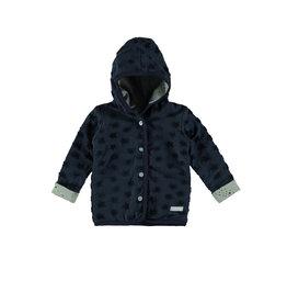 Bampidano New Born hooded drop needle fabric cardigan, navy