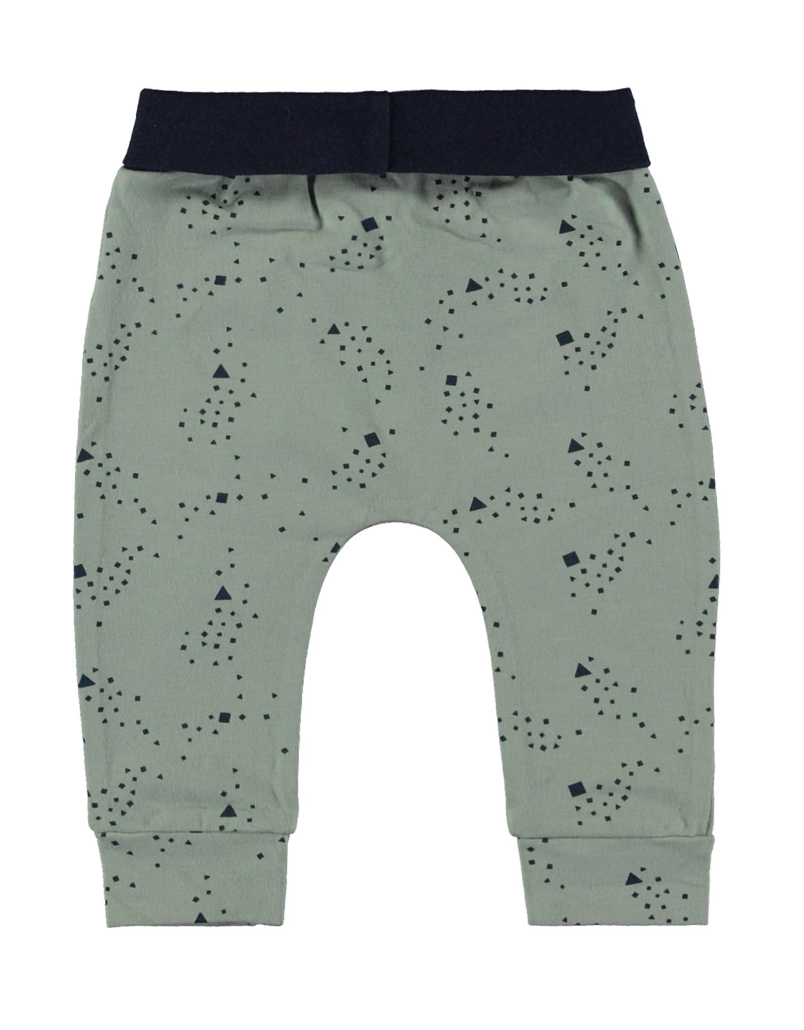 Bampidano New Born trousers allover print, soft green AO