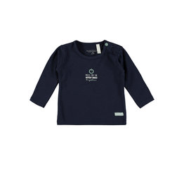 Bampidano New Born T-shirt l/s plain 100% LOVE / CUTEST SMILE / HUG ME!, navy