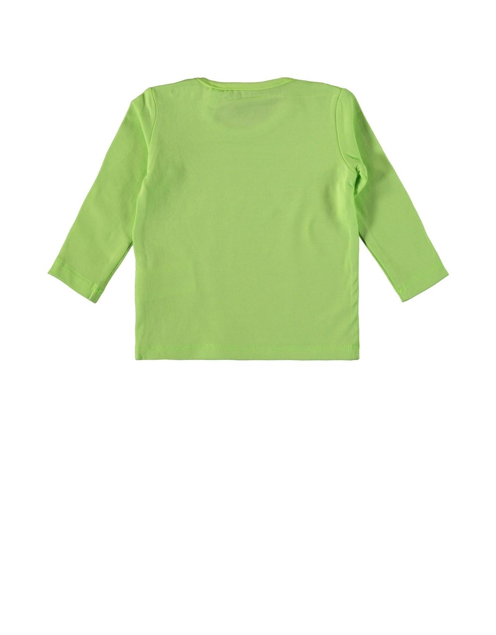 Bampidano Baby Boys T-shirt l/s plain SAFARI / GROW UP / PARTY ANIMALS, bright green