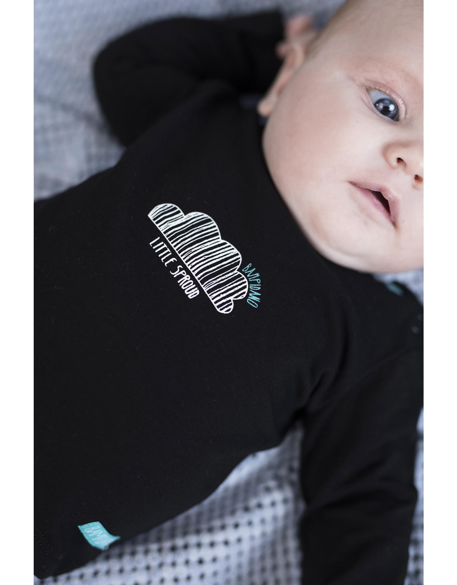 Bampidano New Born T-shirt l/s plain LOVE YOU / LITTLE SPROUD, black