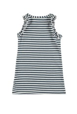 Bampidano Baby Girls dress sleeveless y/d stripe  + ruffles, blue stripe