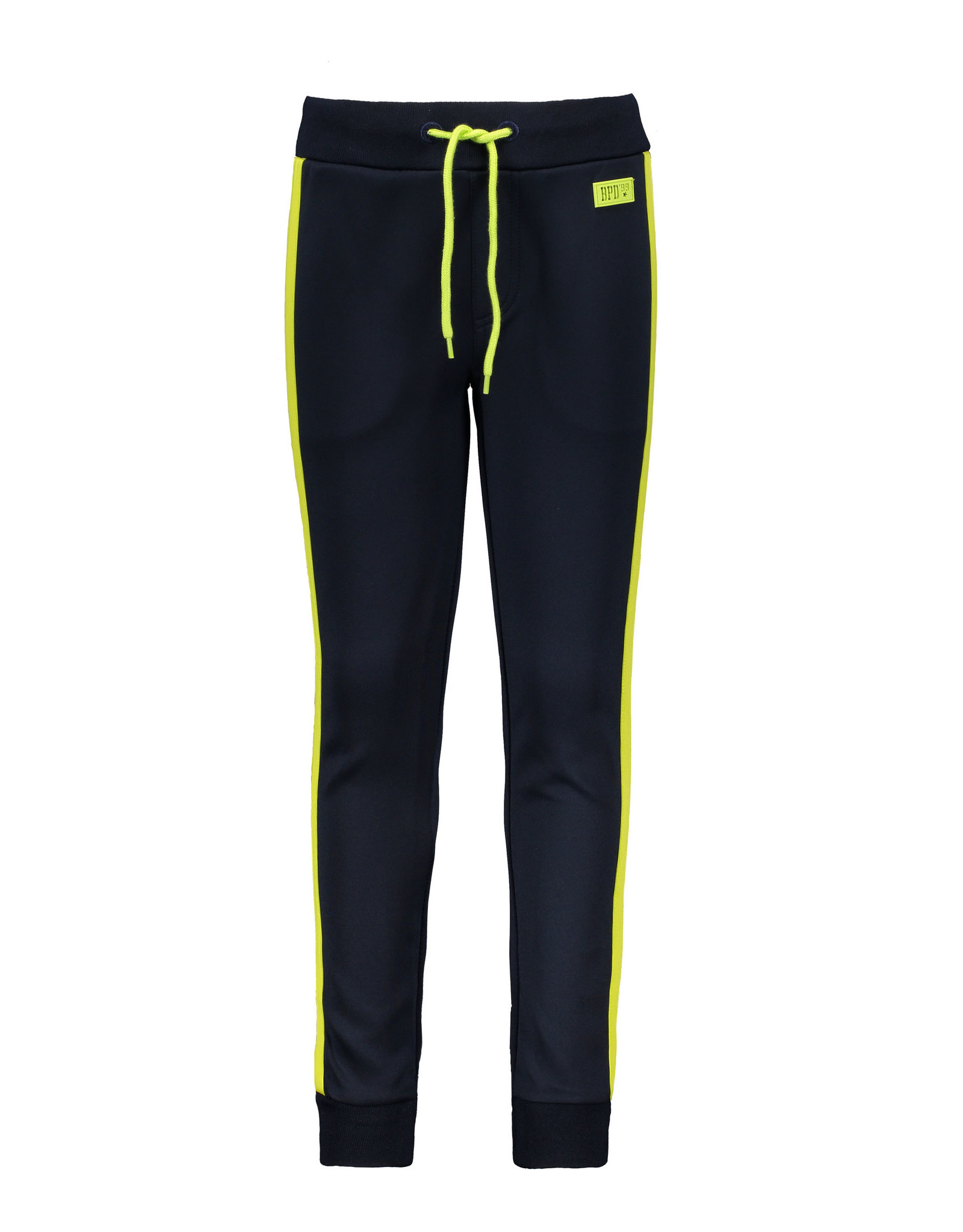Bampidano Kids Boys trainer pants with contrast stripes, navy