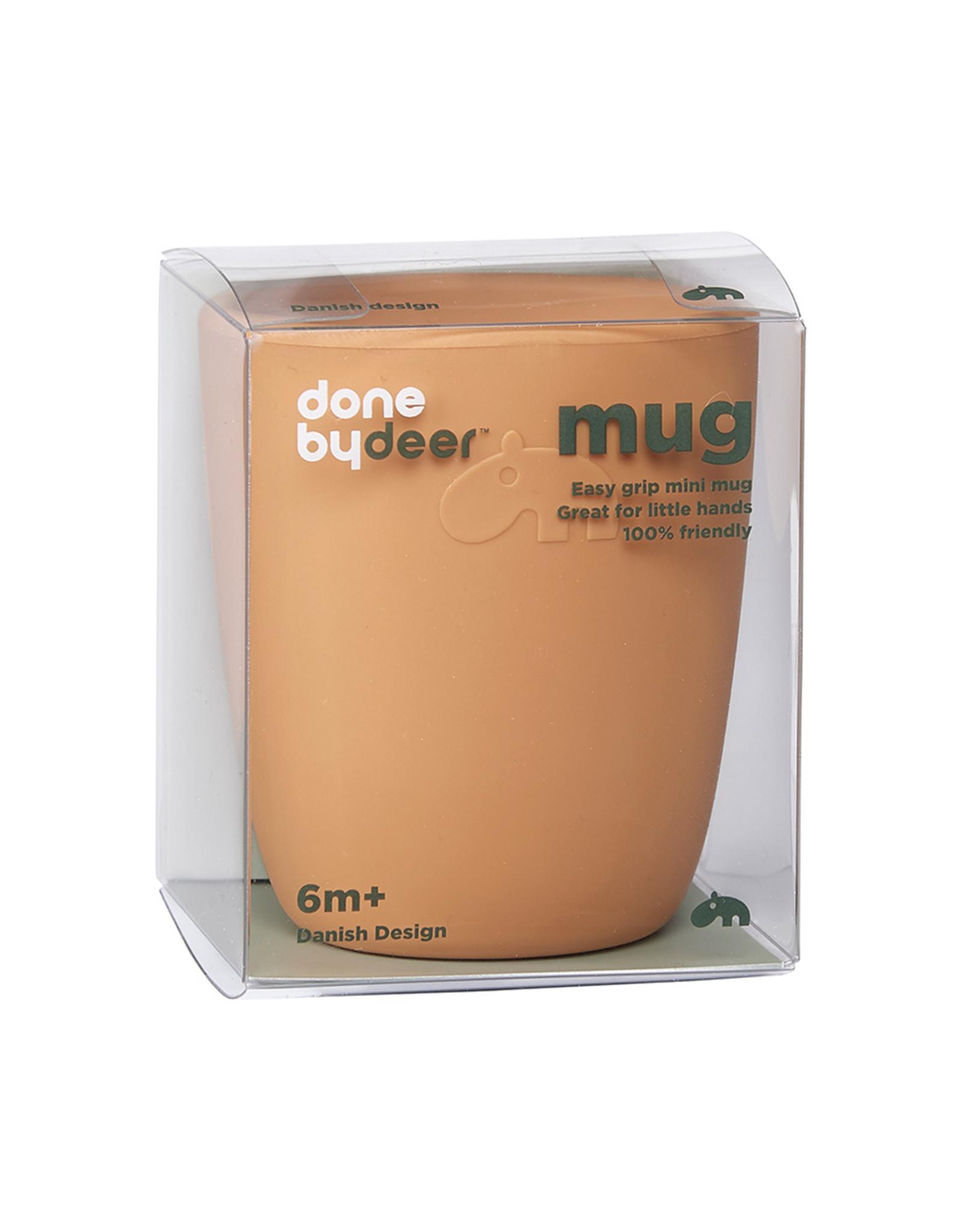 Done by Deer Silicone mini mug Deer Friends Mustard
