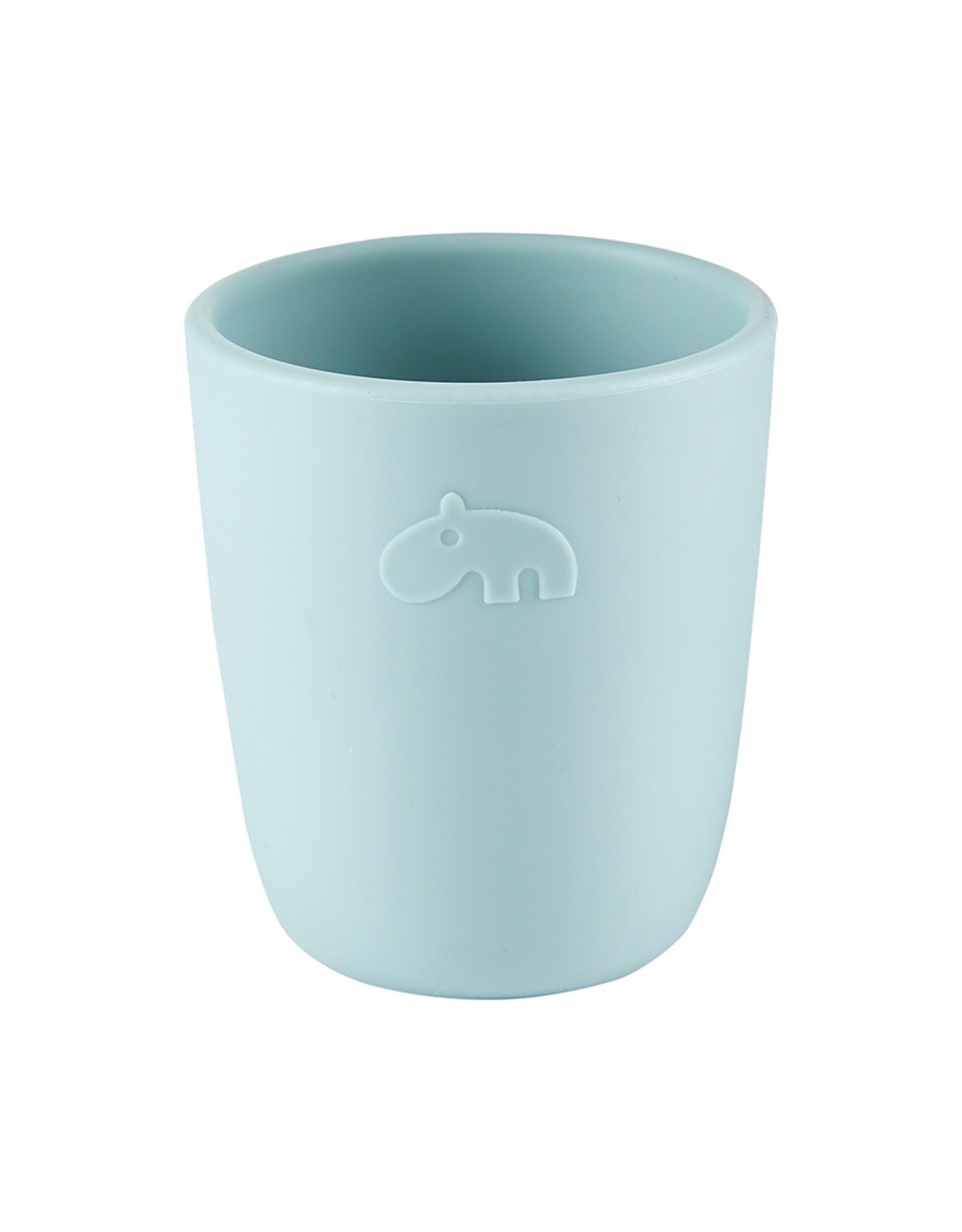 Done by Deer Silicone mini mug Deer Friends Blue
