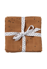 Done by Deer Burp cloth. 2-pack Dreamy dots Mustard