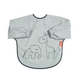 Done by Deer Sleeved bib. 6-18m Dreamy dots Grey