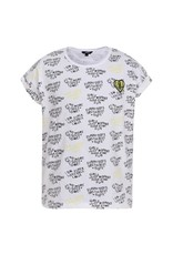 Little Miss Juliette Shirt heart, WHT