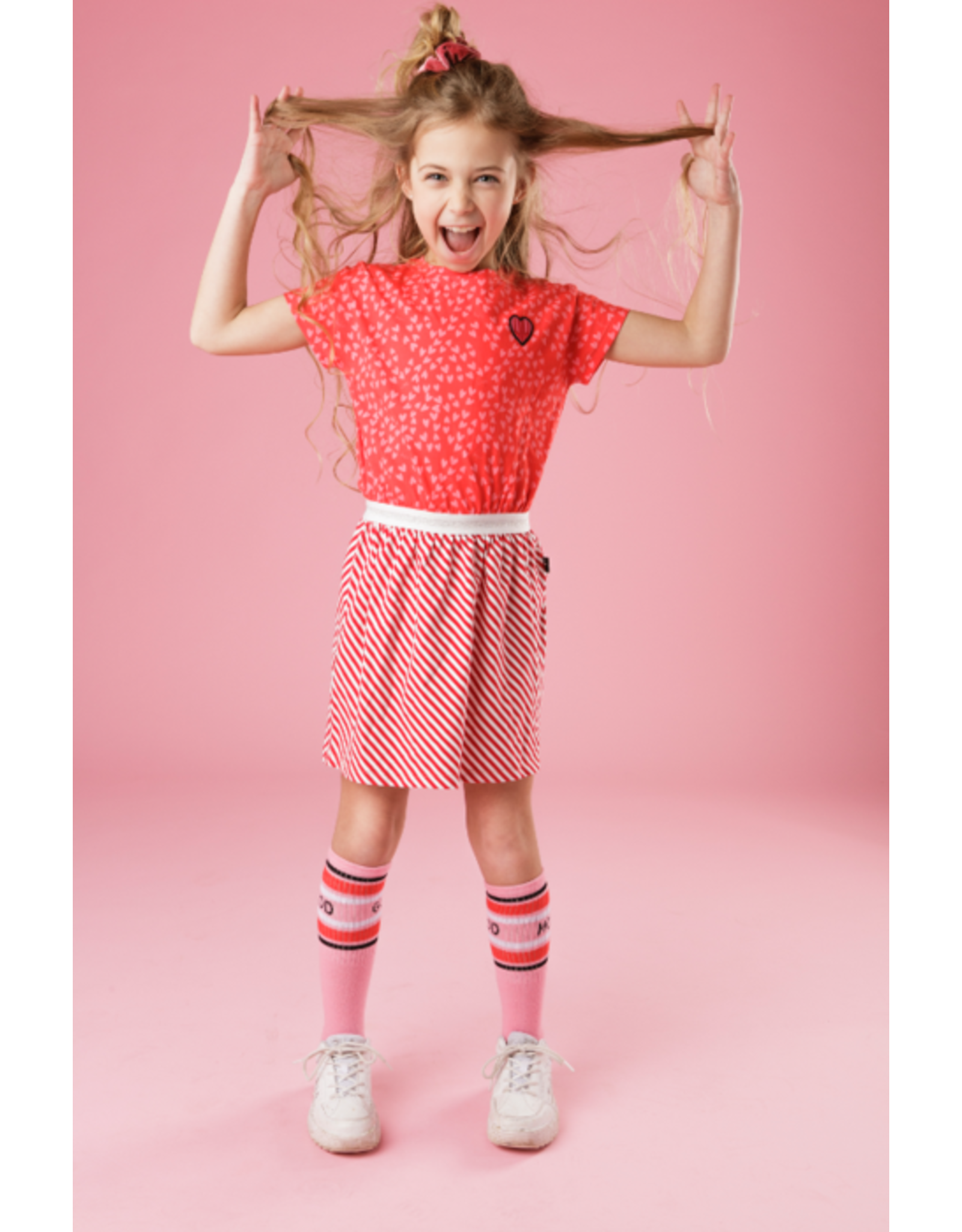Little Miss Juliette Dress Heart, RED