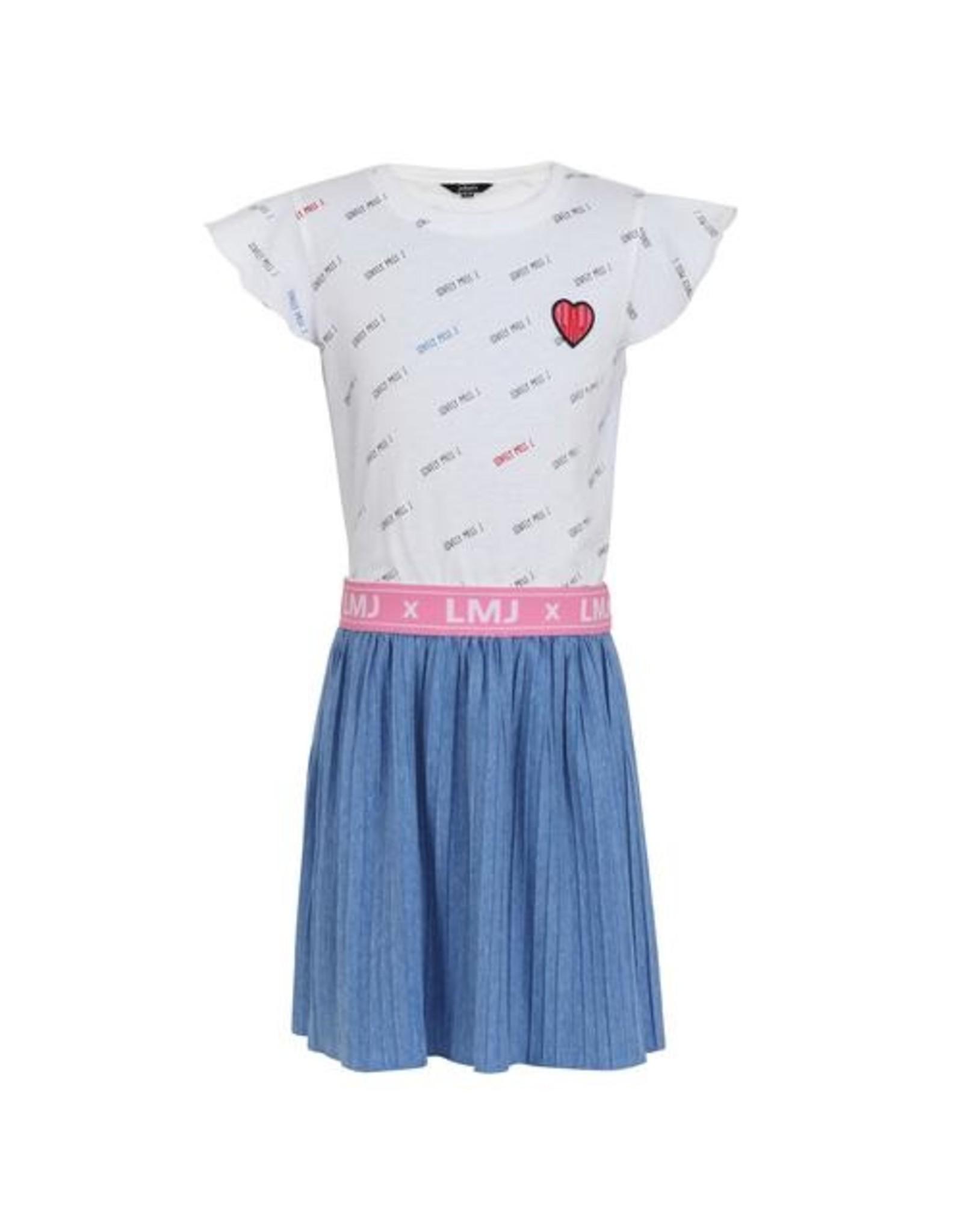 Little Miss Juliette Dress heart, BLU