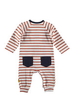 B.E.S.S. Suit Striped with Pocket, Rusty