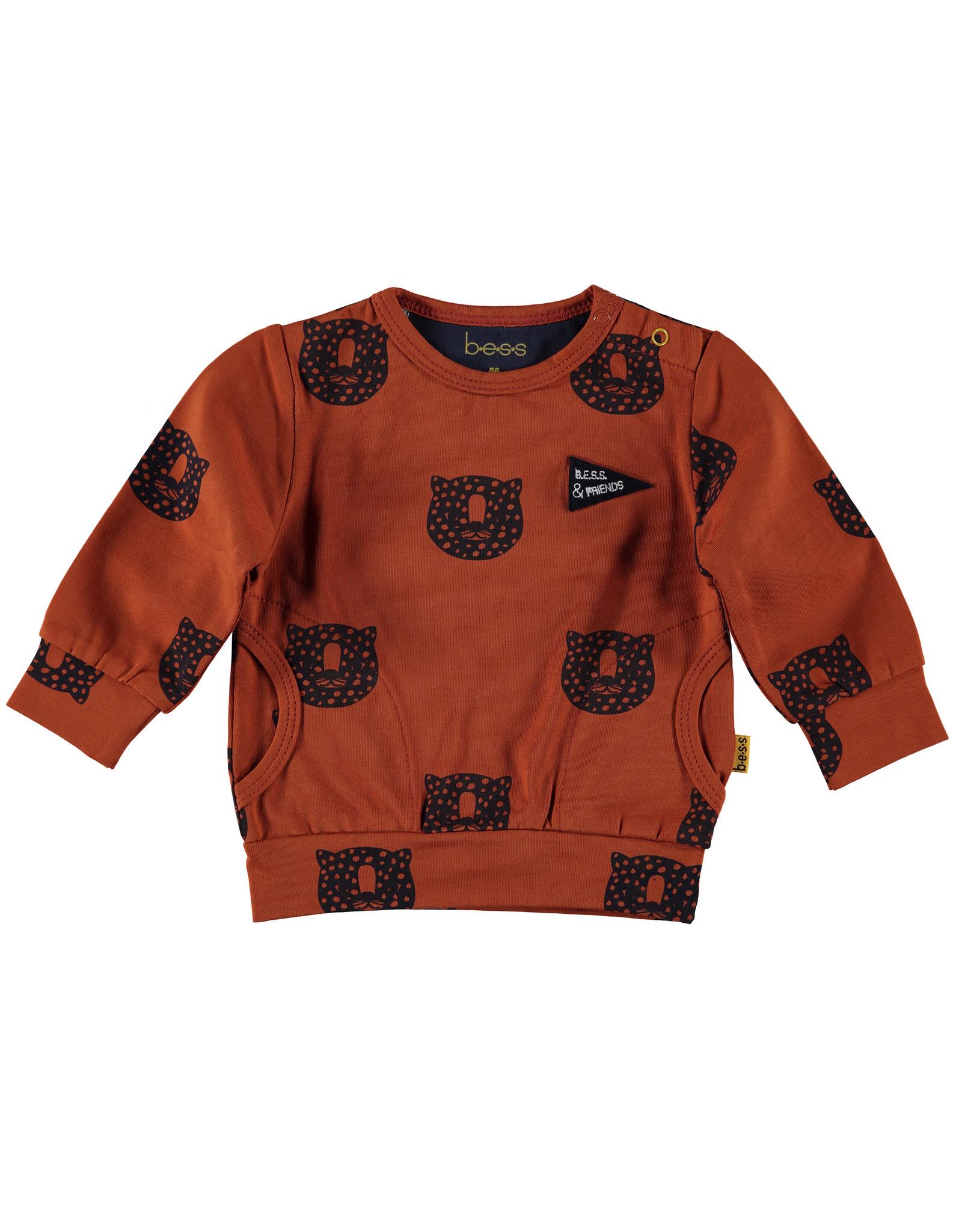 B.E.S.S. Sweater AOP Tiger, Rusty