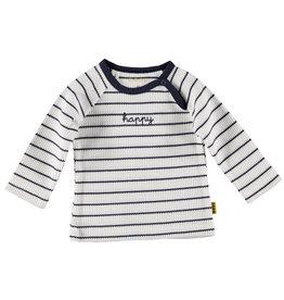 B.E.S.S. Shirt l.sl. Striped Happy, White