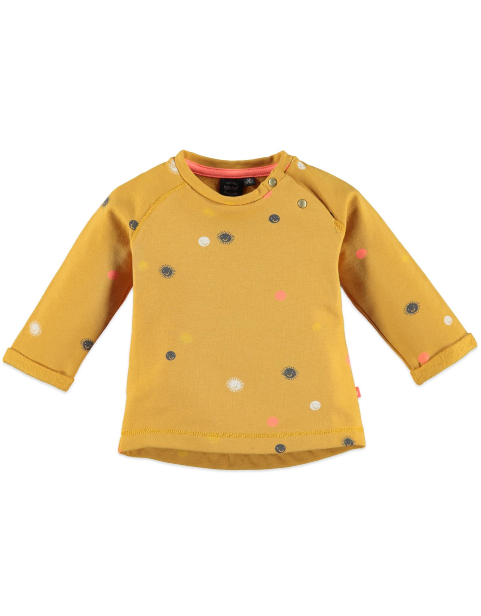 Babyface baby girls t-shirt long sleeve/ocher
